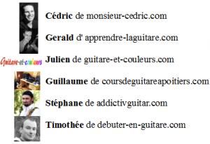 photos auteurs outils des guitariste